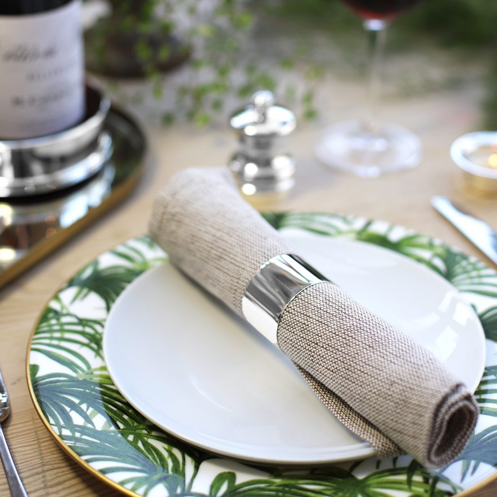 Silver napkin ring for 25th wedding anniversary.