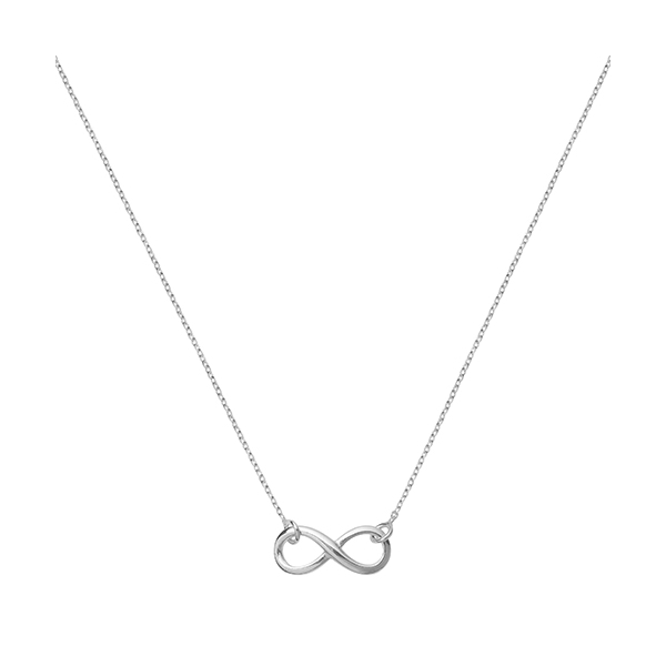 Silver Infinity Charm Necklace