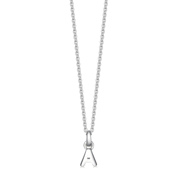 Silver letter A necklace