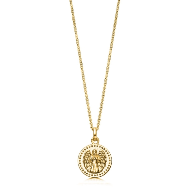 22k Gold Plated Guardian Angel Necklace
