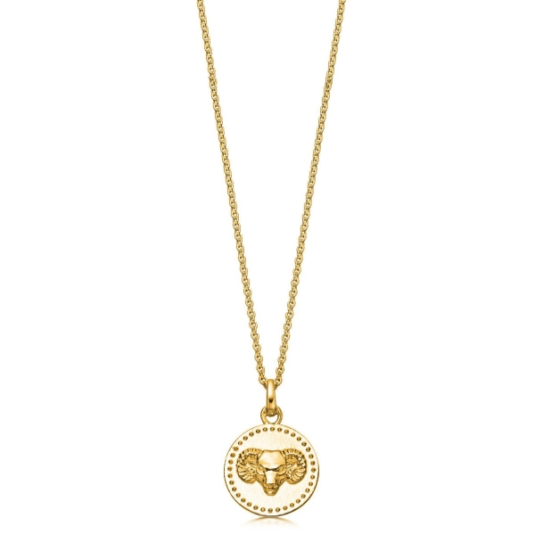 Sterling Silver and Gold Plated Zodiac Pendant