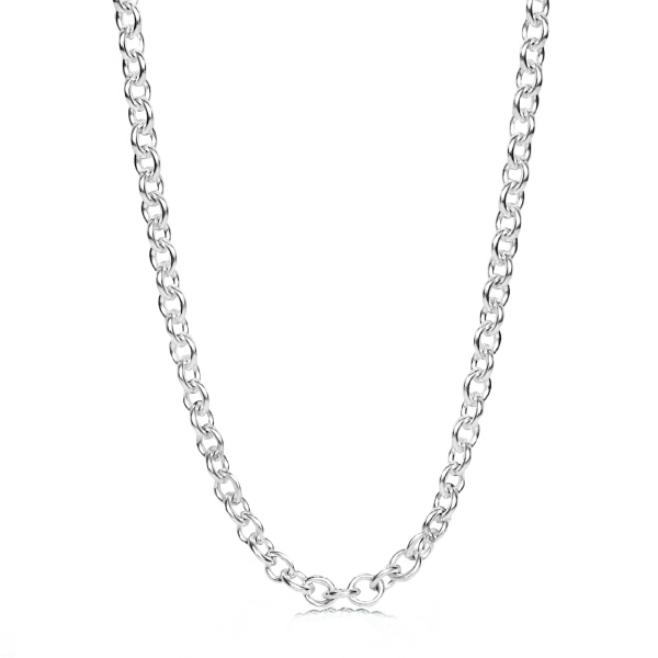 Sterling silver chunky cable chain necklace