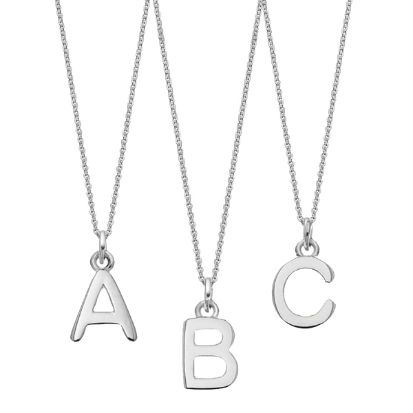 Silver Chunky Initial necklace
