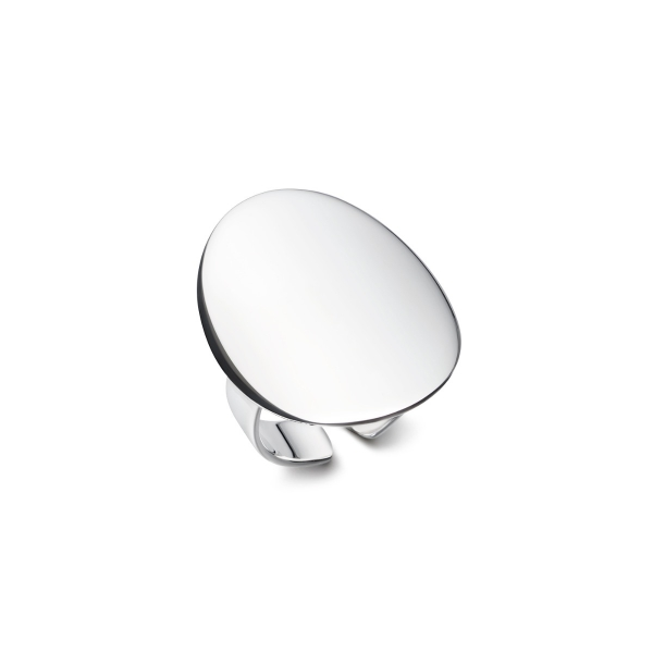 Silver cocktail ring curved