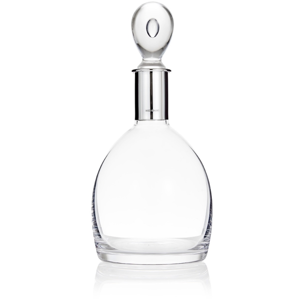 Silver and crystal decanter