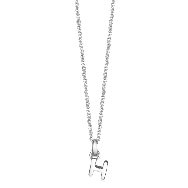 Silver letter H necklace