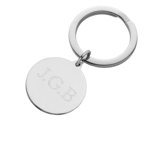 Solid Silver Keyring with Initials