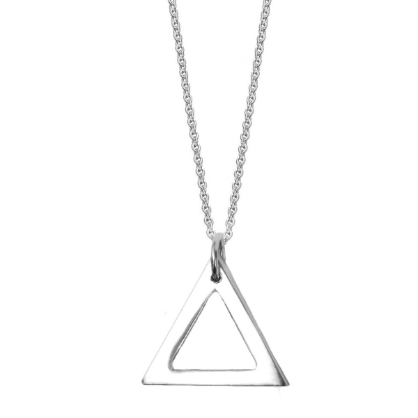 Large Sterling Silver Triangulum Necklace