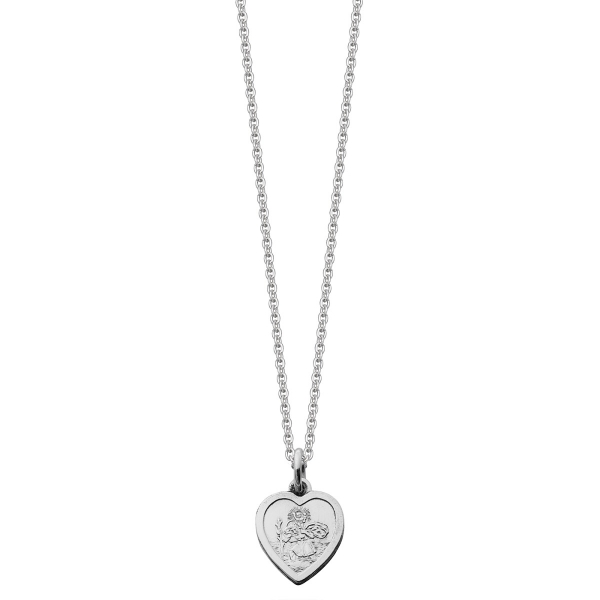 Silver girls st christopher necklace