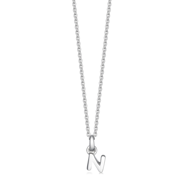 silver letter N necklace