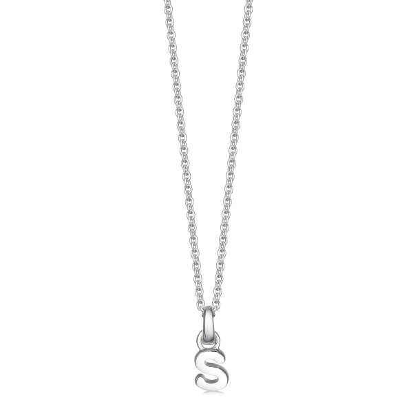 silver letter s necklace