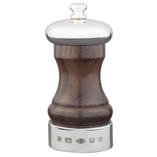 Silver and Rosewood Peppermill