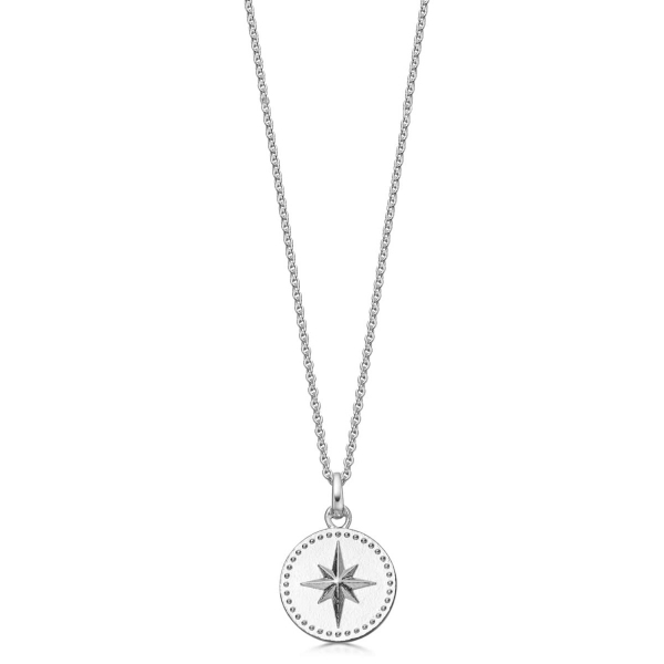 Sterling Silver North Star Compass Necklace
