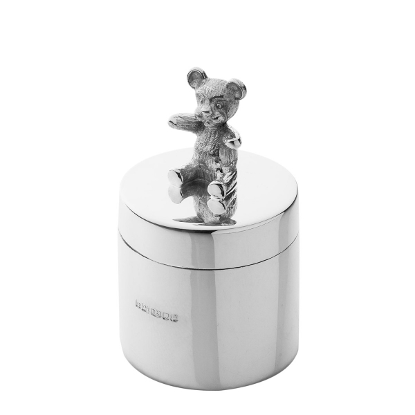 Silver teddy toothbox