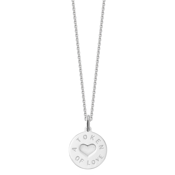 Silver token of love necklace