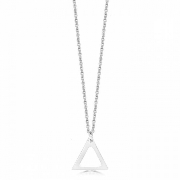 Small Sterling Silver Triangulum Necklace