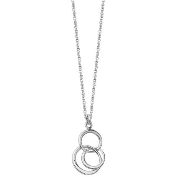 Silver trilogy hoop necklace