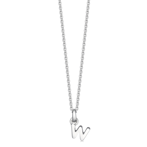 silver letter w necklace