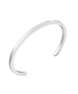 square section open silver bangle