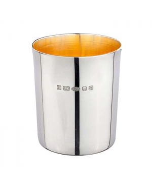 Silver glass tumbler cup