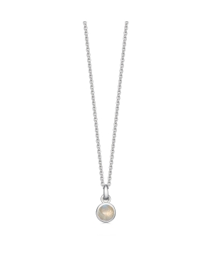 silver and moonstone birthstone necklace
