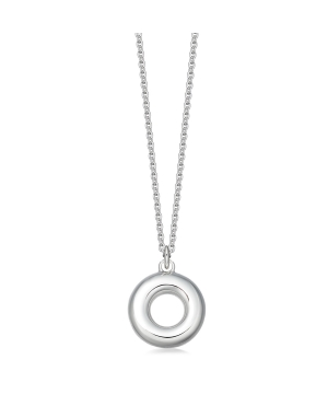 Silver engravable circle of life necklace