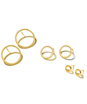 Gold Plated Front facing hoop earrings