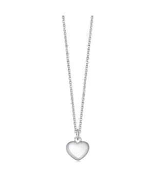 Solid silver heart necklace for girls