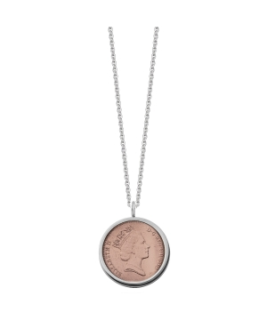 Silver lucky penny necklace