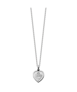 Silver mini st christopher necklace
