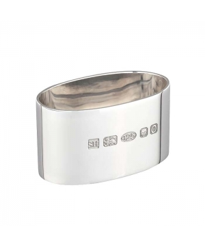 Thick Silver Oval Napkin Ring