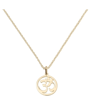 Yellow Gold Vermeil Om Symbol Necklace