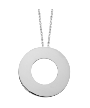 Large silver circle of life necklace
