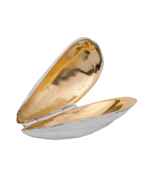 Solid silver mussel eater