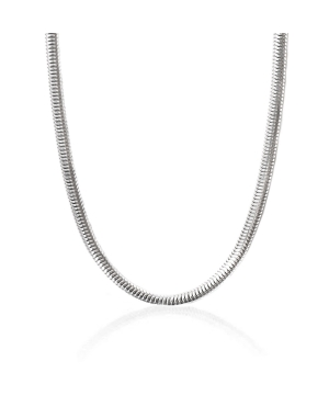 Heavy Sterling Silver Snake Chain Necklace