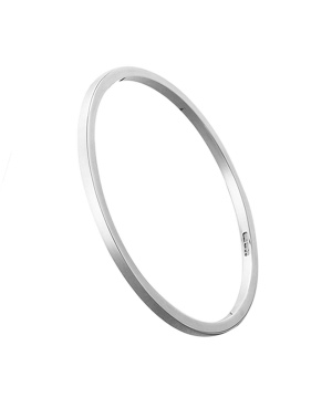 3.2mm Square Section Silver Bangle