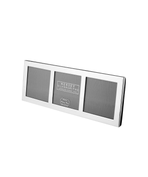 Triple Solid Silver Photo Frame