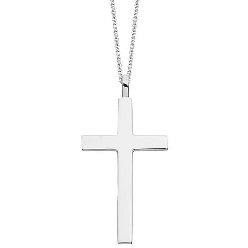 Silver cross necklaces hersey silversmiths large classic silver cross pendant aloadofball Images