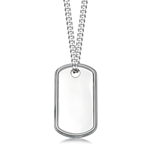 9785aa2d5e149 Silver Dog Tag Pendant necklace
