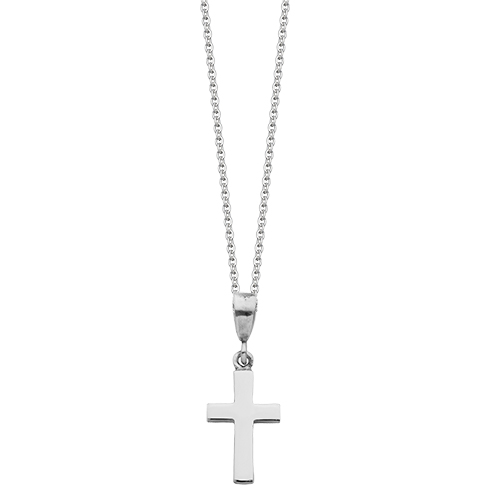 Silver cross necklaces hersey silversmiths small silver cross pendant mozeypictures Images