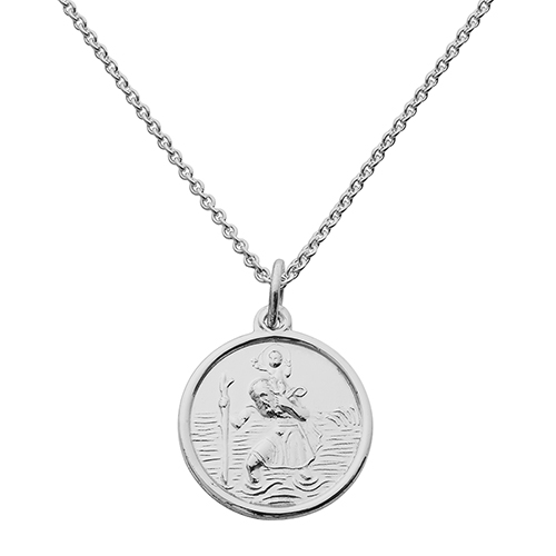Silver st christophers hersey silversmiths silver st christopher pendant mozeypictures Gallery