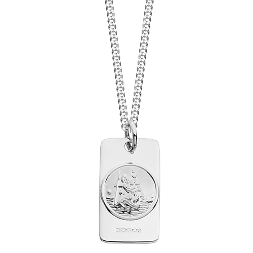 Silver st christophers hersey silversmiths large chunky silver st christopher pendant aloadofball Images